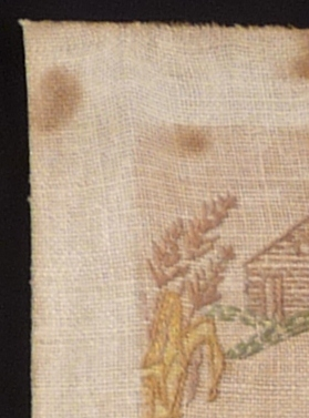 Detail of textile before cleaning test